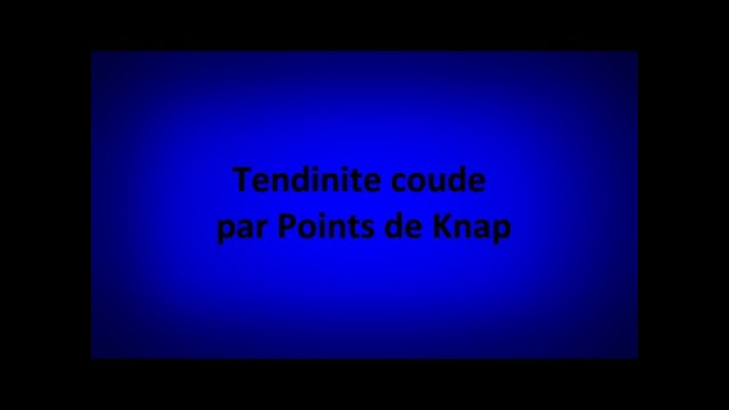 Tendinite coude par points de Knap