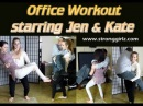 Office Workout Trailer: Two Beautiful Athletic Sisters Do Lifts and Carries!