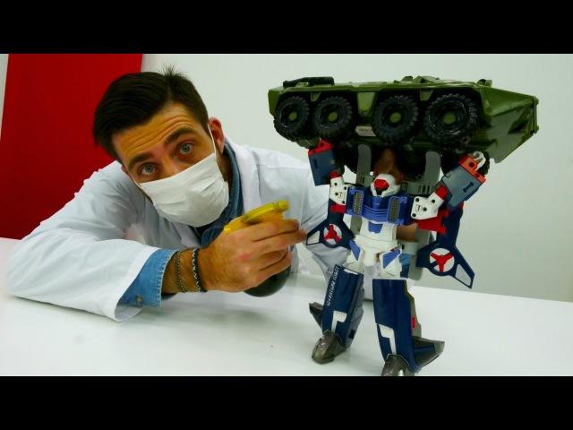 Episode 10 - Vidéo avec jouets Tobot Y chez le docteur Ouille