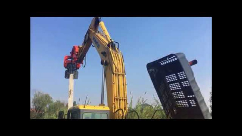 High-speed hydraulic driving pile extractor