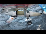 Два экстремала залетели в движущийся самолёт