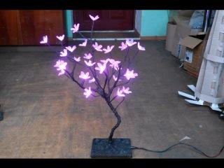 Как сделать светодиодное дерево сакура своими руками. Очень просто. Homemade LED tree