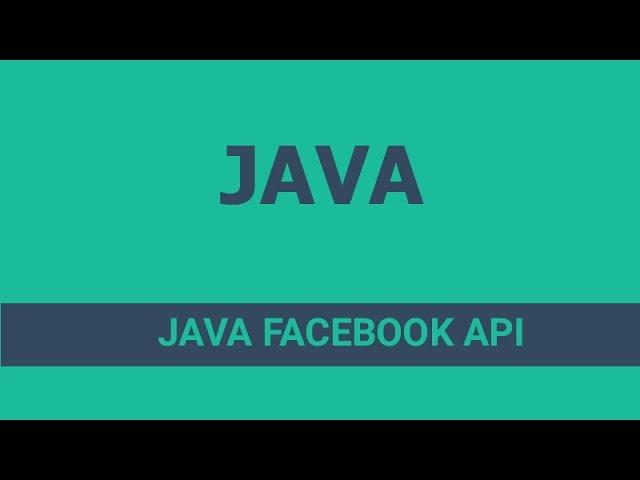 Java Facebook Api -2