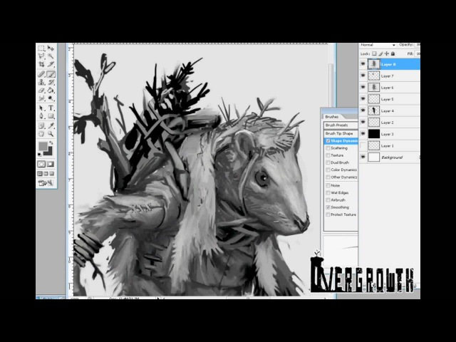 Rat Warrior Timelapse For Overgrowth - Wolfire Games
