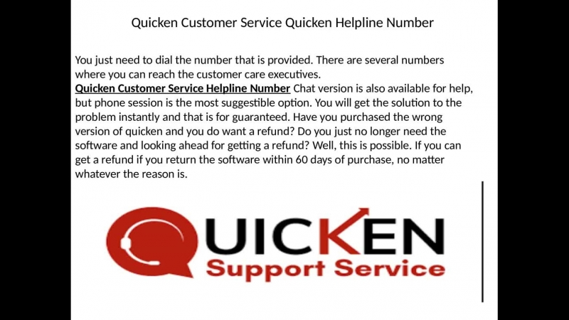 Quicken customer support Phone Number