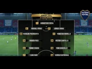 Junior vs Olimpia 3-1 (3-2) Resumen Completo y Goles Copa Libertadores 08_02_201