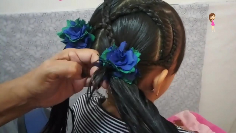 PEINADO INFANTIL CON COLETAS _CHILDRENS HAIRSTYLE WITH PIGTAILS