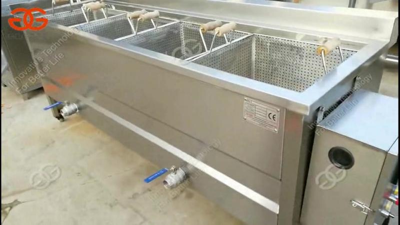 Four pot frying machine|snack food frying machine for chicken leg,potato chips,banana chips,chickpea bean
