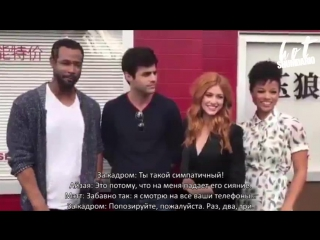Shadowhunters cast hanging at the Jade Wolf | RUS SUB | HS