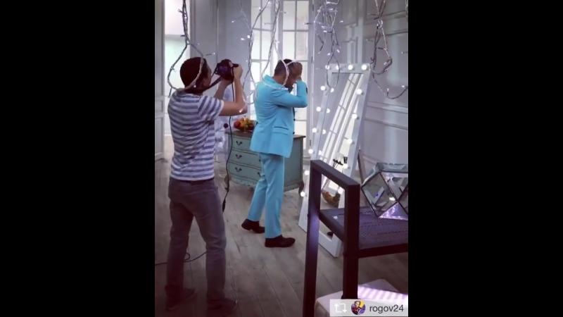 Александр Рогов и наше зеркало с лампочками!