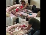 Как мама и папа справляются с близнецами