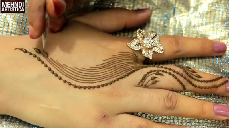 Romantic Girlish Mehndi Designs Within 2 mints_Trendy Henna Mehendi Art Tatt.mp4