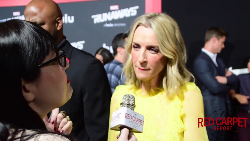 Ever Carradine interviewed at the Premiere of Marvels Runaways on Hulu