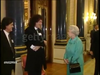 Brian May, Jimmy Page, Eric Clapton  Jeff Beck meets the Queen