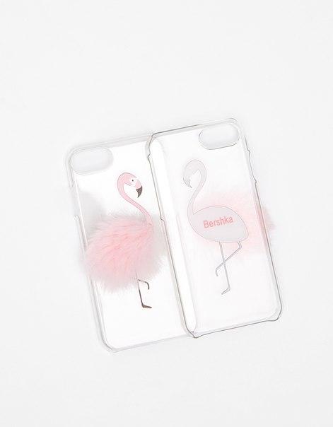 Чехол «Фламинго с перьями» для iPhone 6/6s/7
