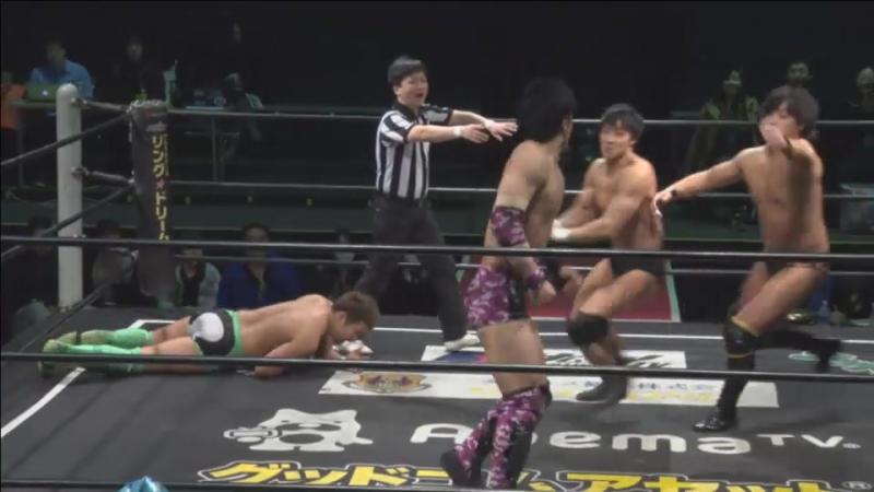 Kouki Iwasaki, Mizuki Watase, Rekka vs. Makoto Oishi, MAO, Shunma Katsumata (DDT - D-Ou Grand Prix 2018 In Shin-Kiba - Day 7)