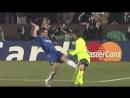 Del Horno brutal foul on Messi Barcelona Chelsea 2006