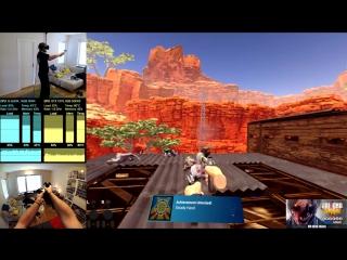 Когда играешь в виртуальной реальности дома