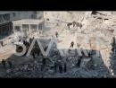 Сирия 09.01.18: постановка бармалеев-белокасочников после авиаударов ВВС САР в г. Хамурия, восточная Гута. в.2