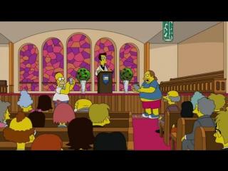 Homer Simpson catch Pokémon in the church