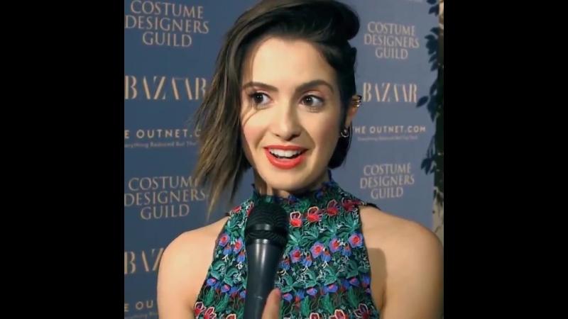 Интервью в рамках вечеринки от журнала «Harper's Bazaar» и Гильдии художников по костюмам (17 февраля 2018)