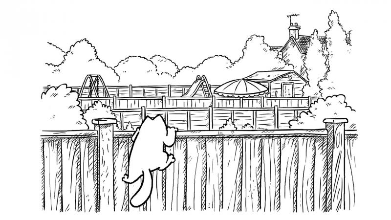 11. Кот Саймона - За забором