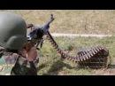 Пулемет Калашникова Болгарские и румынские солдаты на полигоне НАТО