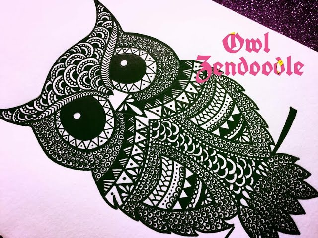 Zendoodle Zentangle Inspired Owl Timelapse Karthika Loves DIY