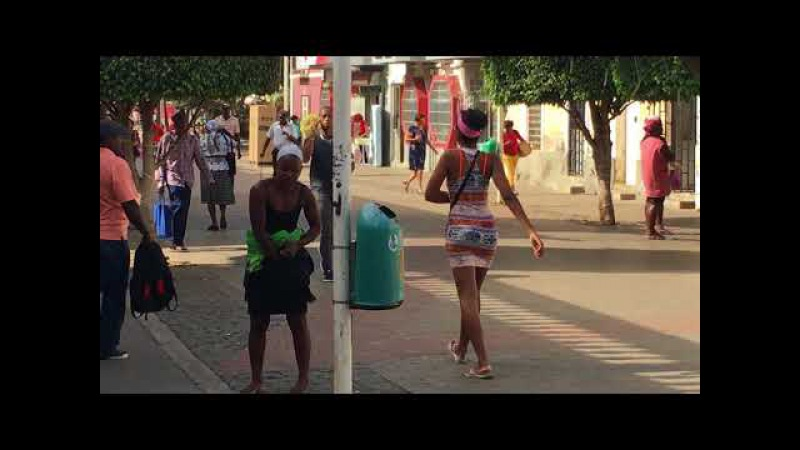 The down town Santiago Cape Verde Africa