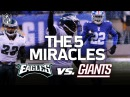 The Eagles 5 Miracle Wins vs. the Giants   NFL Highlights