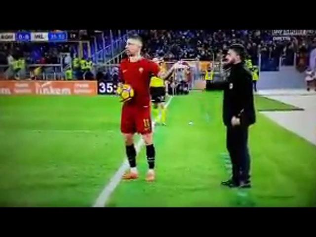 Gattuso-Kolarov Lite durante Roma-Milan