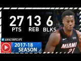 Hassan Whiteside Full Highlights vs Bucks (2018.01.17) - 27 Pts, 13 Reb, 6 Blocks!