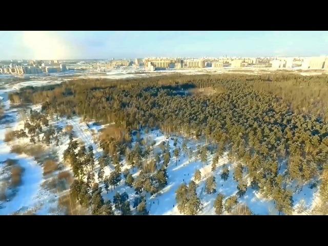 горки Монахис высоты и окрестности.Челябинск с дрона DJI Phantom 3