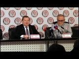 Пресс конференция перед весенней частью сезона