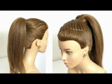 Easy Prom Ponytail Hairstyle For Long Hair Tutorial.