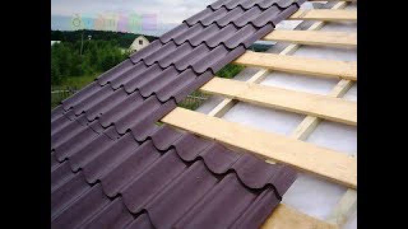 Двускатная мансардная крыша. Утепление, монтаж обрешётки и т. д. Серия №17