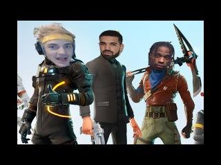 Ninja, Drake, Travis Scott plays FORTNITE (BEST MOMENTS)
