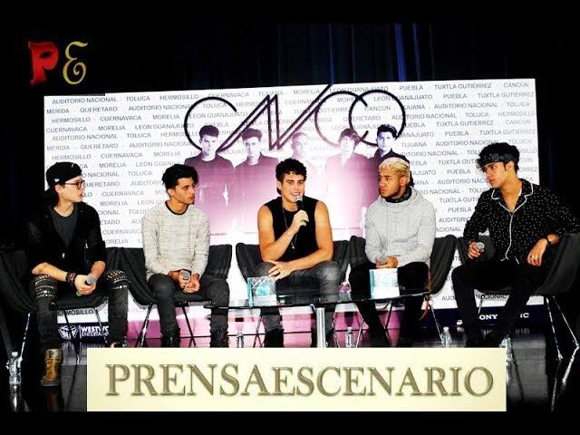 CNCO - CONFERENCIA DE PRENSA COMPLETA - GIRA DE CONCIERTOS - MEXICO
