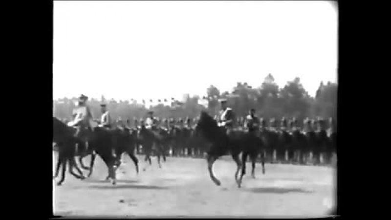 Гусары и уланы на высочайшем смотре 1912