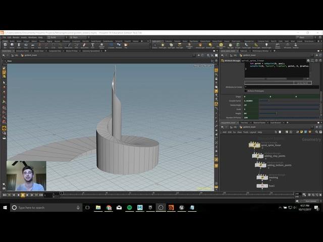 Procedural Golden Tower in Houdini VEX Tutorial