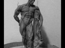 How to Sculpt Ecorche Hercules Part 74 Finalizing the flayed lion skin pedestal thingy