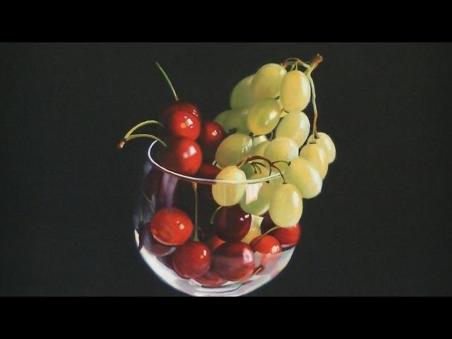Cerezas y uvas.