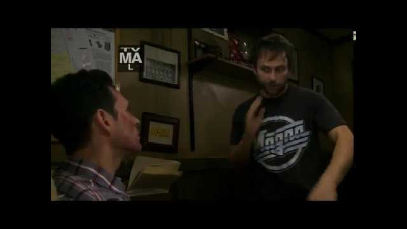 It's Always Sunny in Philadelphia - Dennis and Charlie high in the back office