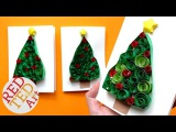 3D Christmas Tree Card DIY   Easy Quilling for Beginners   Paper Christmas Tree DIYs