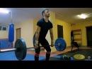 Тренировка по тяжелой атлетике Урок 1 Взятие штанги на грудь