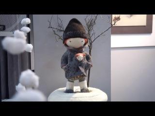 Притяжение зимы | Выставка из войлока