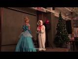 171210 Eunjung & Qri cosplayed as Cinderella & the snowman