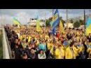 """Марш фан руху Вірні збірній """" у Харкові На мосту"""