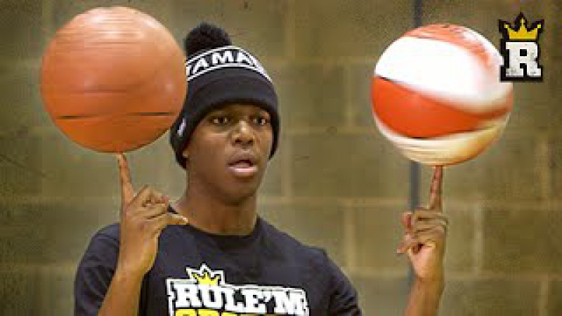 KSI Learns Freestyle Basketball: Spinning   Rule'm Sports