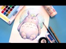 Totoro of the Forest Watercolor Speedpaint - 森のトトロ・水彩イラストメイキング